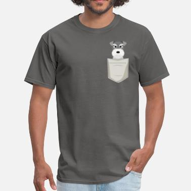 Schnauzer Schnauzer In a Pocket - Men's T-Shirt