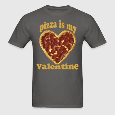 pizza_is_my_valentine_love_funny_shirt_ - Men's T-Shirt
