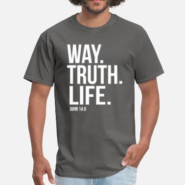 Scripture Way Truth Life Bible Scripture Verse Christian - Men's T-Shirt