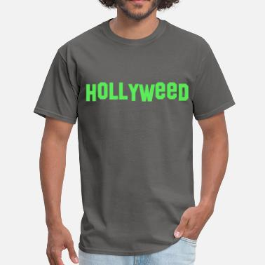 Hollywood Sign Hollyweed - Men's T-Shirt