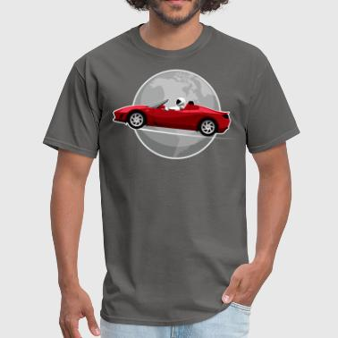 Tesla Roadster Earth - Men's T-Shirt