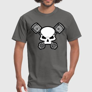Skull and Pistons - Men's T-Shirt