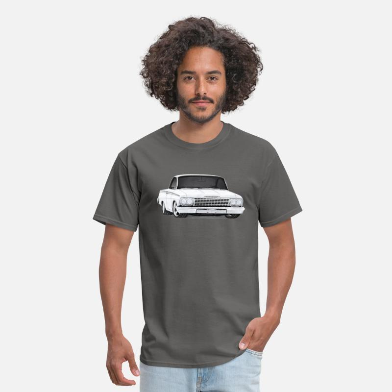 Air T-Shirts - 1962 Bel Air Sport Coupe drawing - Men's T-Shirt charcoal