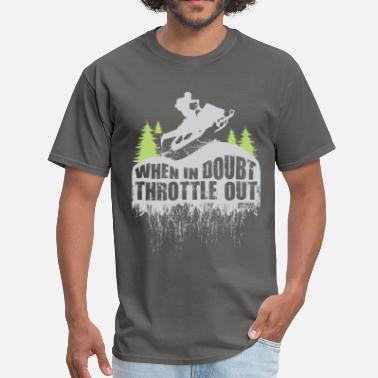 Throttle Out Snowmobile Throttle Out - Men's T-Shirt