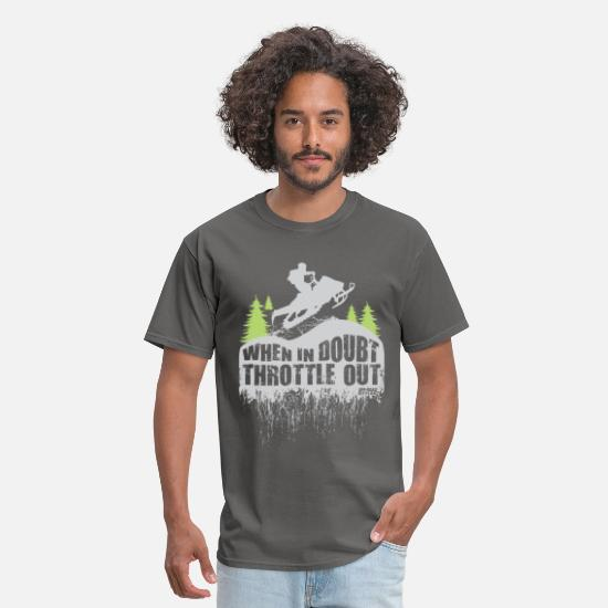 Snowmobile T-Shirts - Snowmobile Throttle Out - Men's T-Shirt charcoal