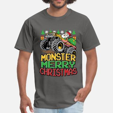 Wheels Santa Christmas Truck - Men's T-Shirt
