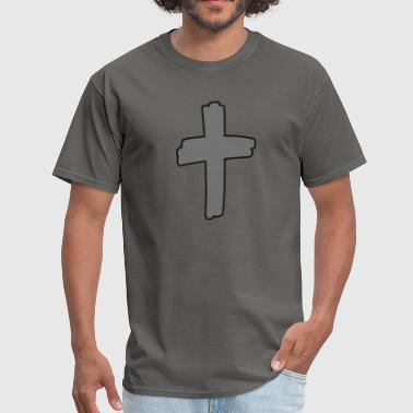 Bdsm Logo Gray Cross Logo - Men's T-Shirt