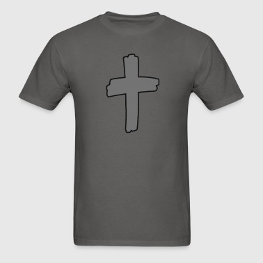 Gray Cross Logo - Men's T-Shirt