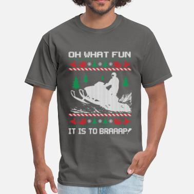Sled-heads Snowmobile Fun Christmas - Men's T-Shirt