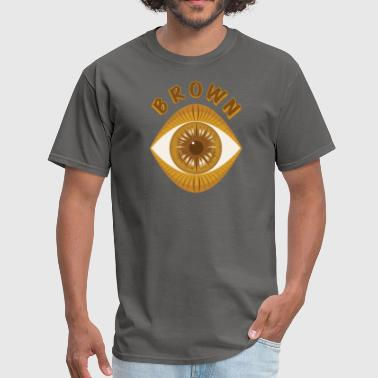 Brown eye dirty joke teaser - Men's T-Shirt