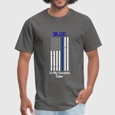 Thin Blue Line Police Support - Men's T-Shirt