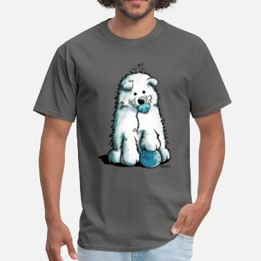 Puppy Cute Samoyed Puppy - Dog - Dogs - Comic - Gift - Men's T-Shirt