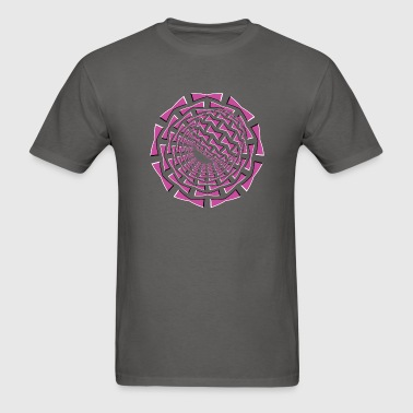 3D Optical Illusion 01R - Men's T-Shirt