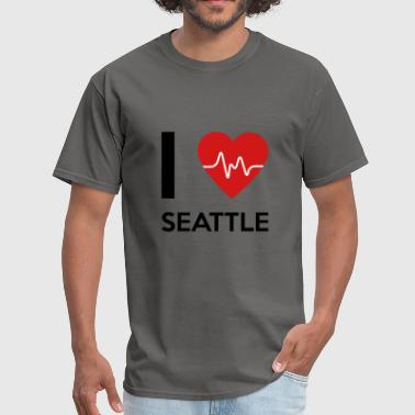 I Love Seattle I Love Seattle - Men's T-Shirt