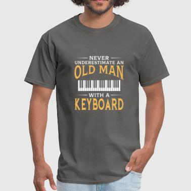 funny An Old Man With A Keyboard - Men's T-Shirt