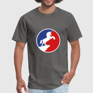 Cliff sport red blue logo cool silhouette night cliff mo - Men's T-Shirt