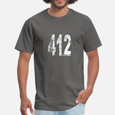 412 Vintage Pittsburgh Area Code 412 - Men's T-Shirt