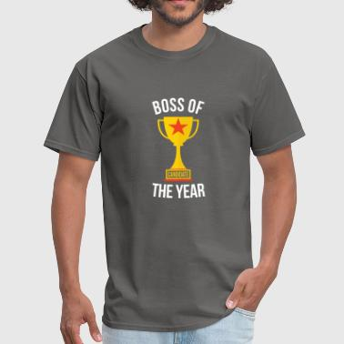 Boss of the Year Funny Boss - Men's T-Shirt