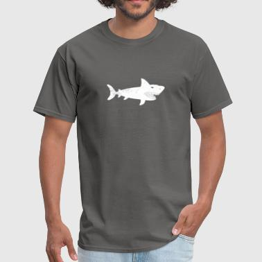 VINTAGE COOL SHARK SILHOUETTE LOVERS FUNNY GIFT - Men's T-Shirt