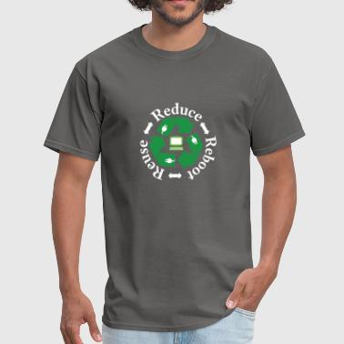 Environmental Sciences REDUCE REUSE REBOOT FUNNY GREEN TECHNOLOGY LOVERS - Men's T-Shirt