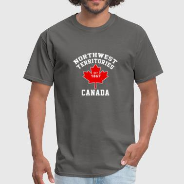 American And Canada Flag Northwest Territories Canada Est 1870 Flag T Shirt - Men's T-Shirt