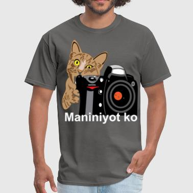 Pinoy Cat Bites Camera - Men's T-Shirt