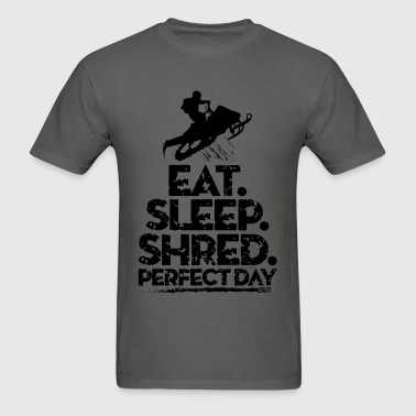 Snowmobile Eat Sleep - Men's T-Shirt