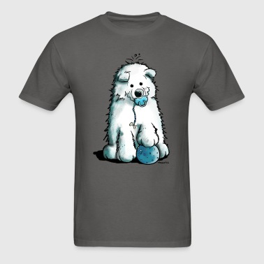 Cute Samoyed Puppy - Dog - Dogs - Comic - Gift - Men's T-Shirt