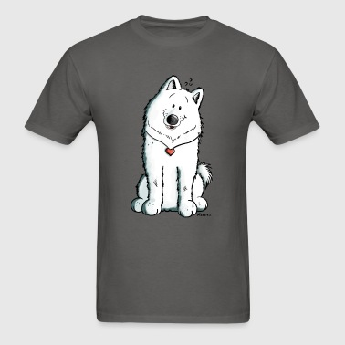 Samoyed Dog With Heart - Comic - Dogs - Gift - Men's T-Shirt