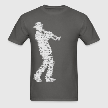 trumpet player made of notes_09201601 - Men's T-Shirt
