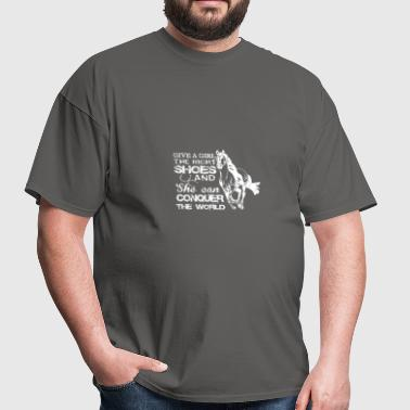 Give A Girl The Right Shoes Horse Riding T Shirt - Men's T-Shirt