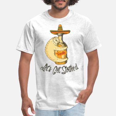 Spanish Kids Sloth Cinco De Mayo Shirt Funny Get Slothed - Men's T-Shirt