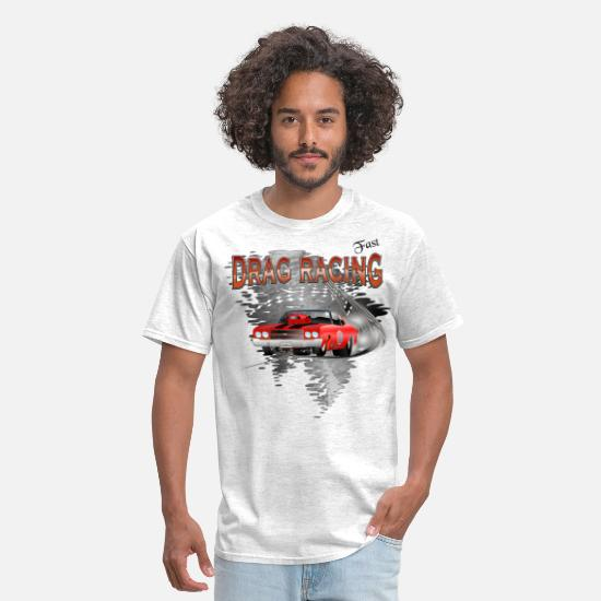 Racing T-Shirts - Drag Racing Chevrolet Chevelle - Men's T-Shirt light heather gray