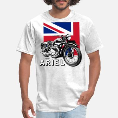 Classic Classic ARIEL motorcycle script and illustration + - Men's T-Shirt