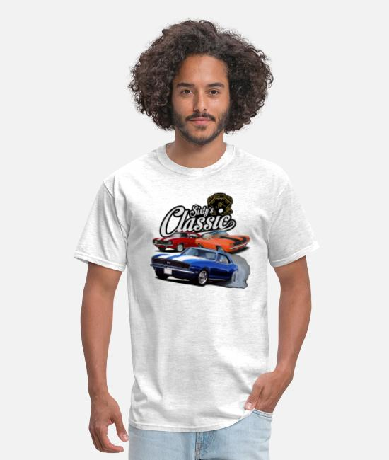 Classic Car T-Shirts - sixties classic - Men's T-Shirt light heather gray