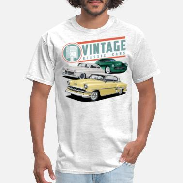 Classic Vintage Classic Cars Together - Men's T-Shirt