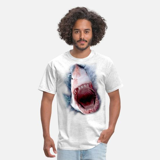 Shark T-Shirts - shark - Men's T-Shirt light heather gray