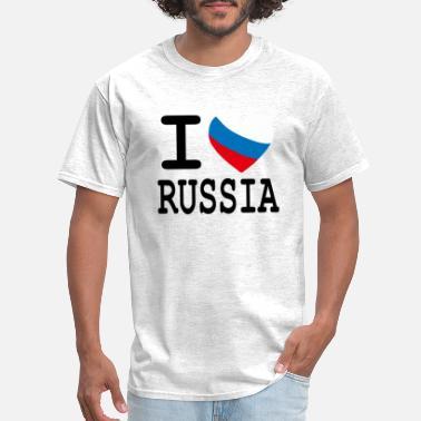 Russia I Heart Russia - Men's T-Shirt
