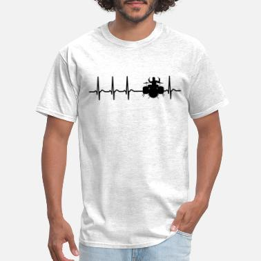 Drum Heartbeat Drums Drummer Sticks Cool Funny Gift - Men's T-Shirt