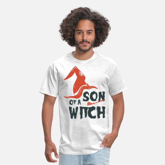 Halloween T-Shirts - Son Of a Witch - Men's T-Shirt light heather gray