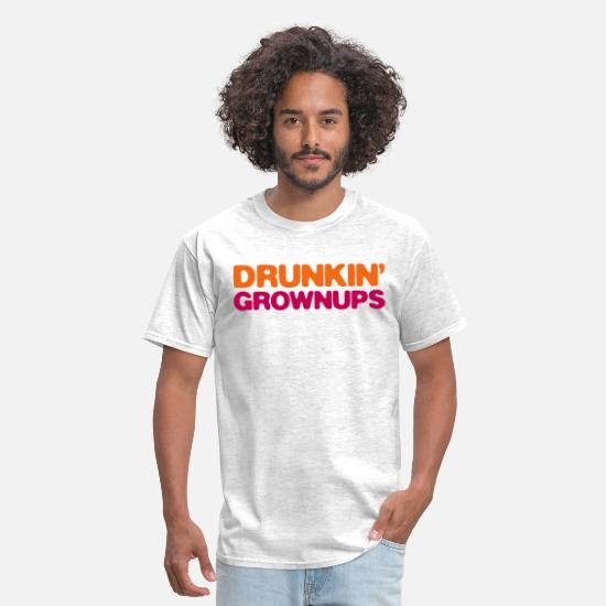 Grownups T-Shirts - drunkin grownups - Men's T-Shirt light heather grey