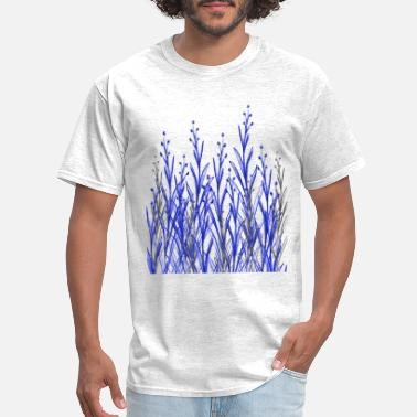 Flowercontest Blue Botanic Flowers - Men's T-Shirt
