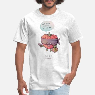 Strawberry Funny robbery pun - Men's T-Shirt