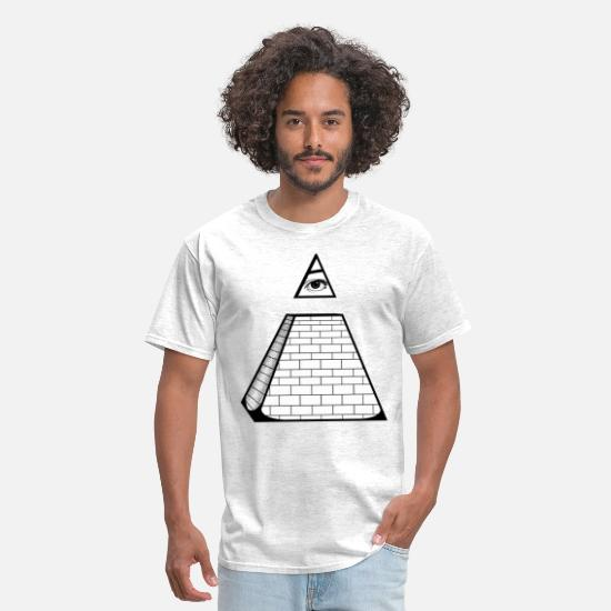 Cool T-Shirts - All Seeing Pyramid - Men's T-Shirt light heather gray