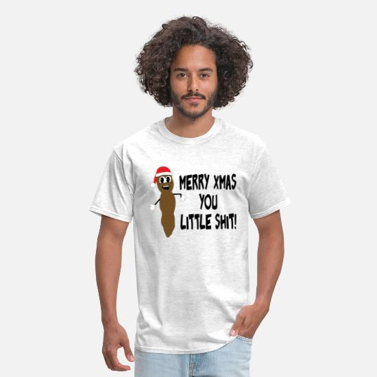Grinch T-Shirts - Merry Christmas you little shit - Men's T-Shirt light heather gray
