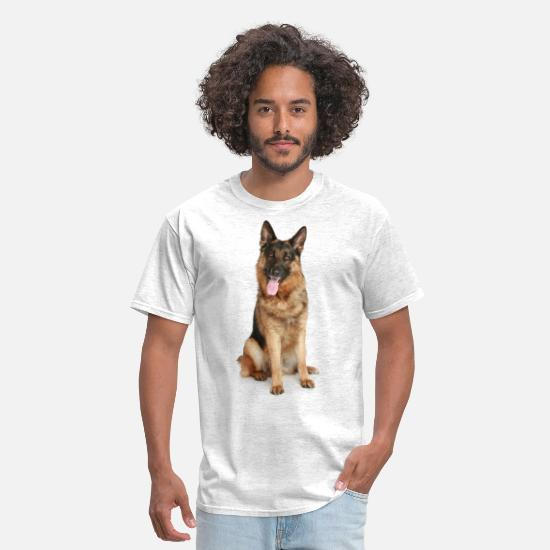 Shepherd T-Shirts - German Shepherd - Men's T-Shirt light heather gray