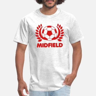 Midfielder Soccer BALL MIDFIELD with leaves - Men's T-Shirt