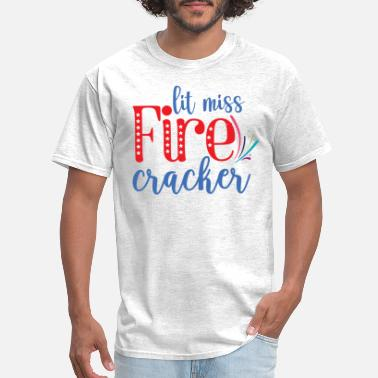 July 4th Little miss firecracker july 4th - Men's T-Shirt