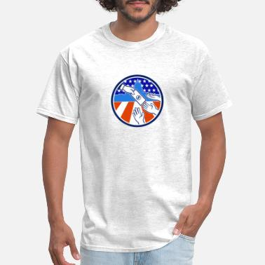 Dollar Bill American Stimulus Payment Package Icon Retro - Men's T-Shirt