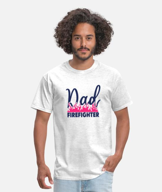 Dad To Be T-Shirts - dad firefighter - Men's T-Shirt light heather gray